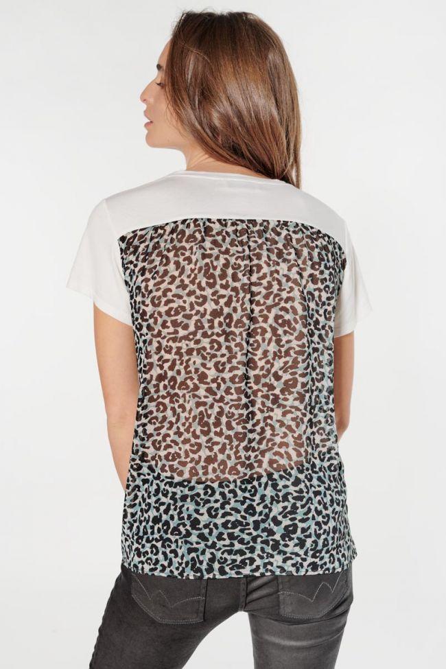 T-shirt Lauren crème imprimé