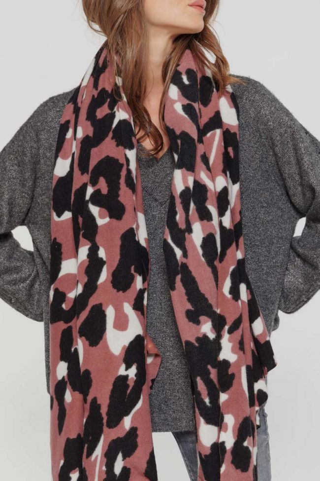 Pink leopard Lep scarf