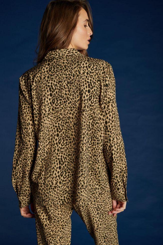 Blouse Panter à motif léopard