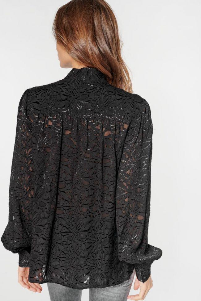 Black jacquard Rozen blouse