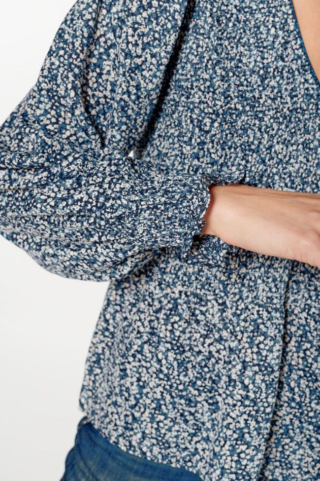 Blue floral Song blouse