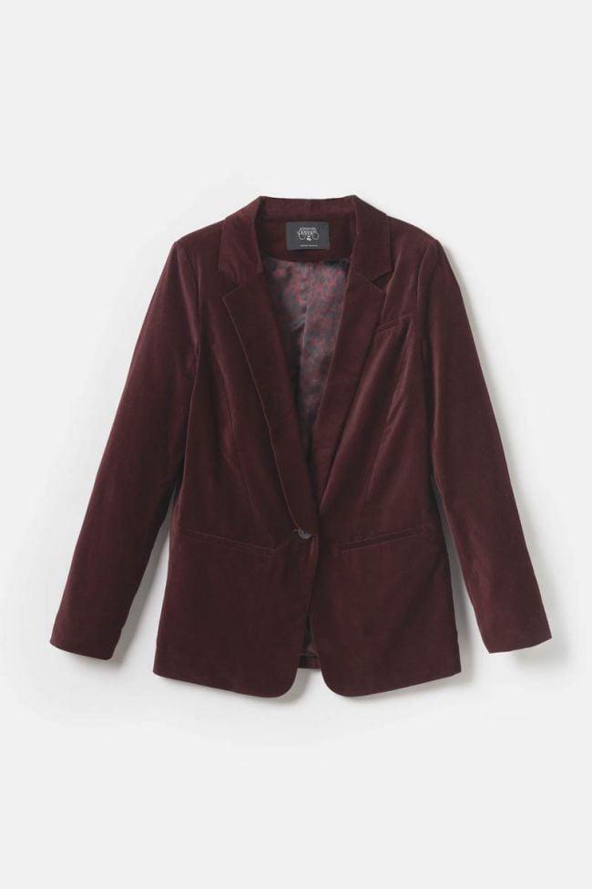 Burgundy velvet Tamise blazer
