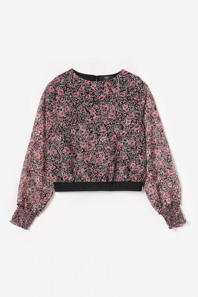 Pink floral Abrygi cropped blouse