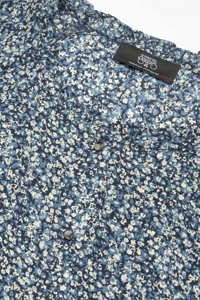 Robe Dikesgi à motif fleuri bleu