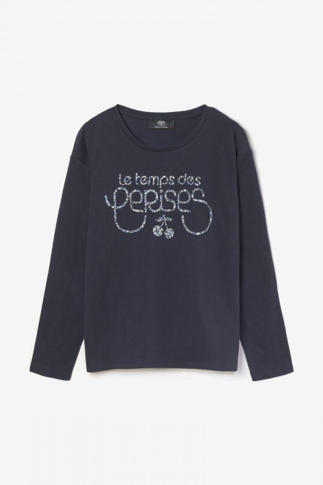 T-shirt Jamilagi bleu marine imprimé