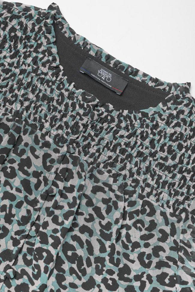 Blue leopard Nolangi blouse