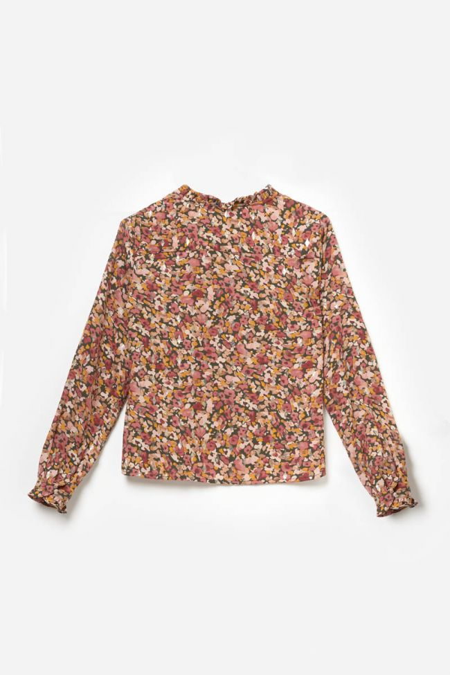 Old pink floral Rossgi blouse