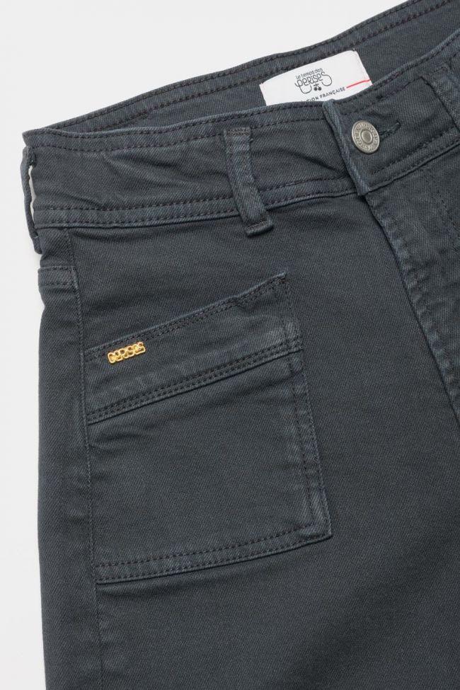 Straight-legged charcoal grey Sispo jeans