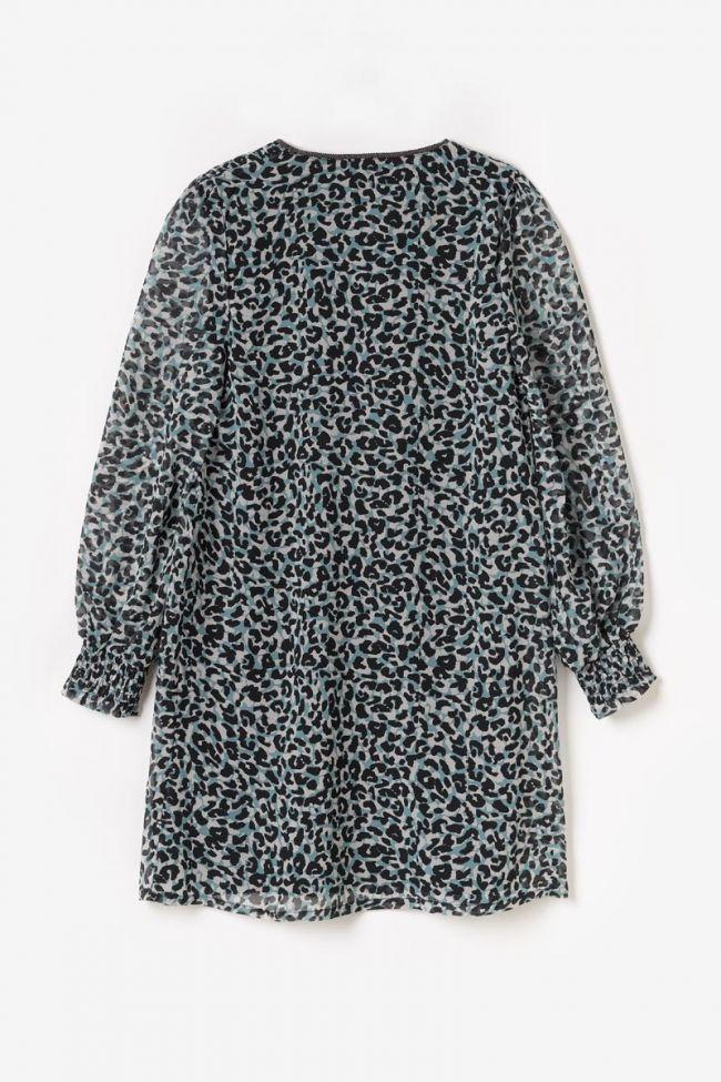 Robe Somonagi léopard bleue