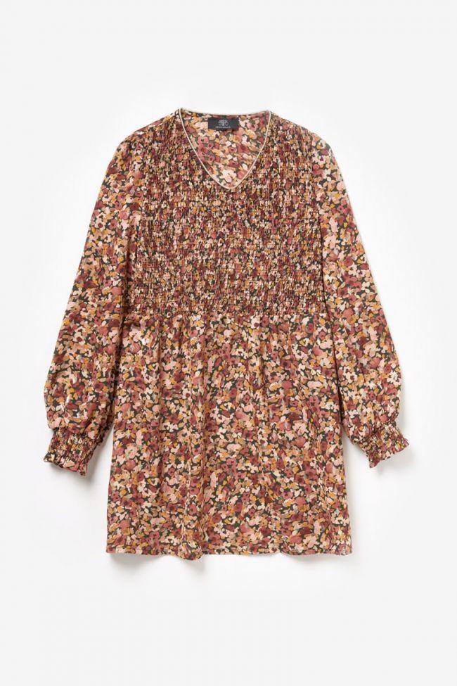 Robe Sungi à motif fleuri rose