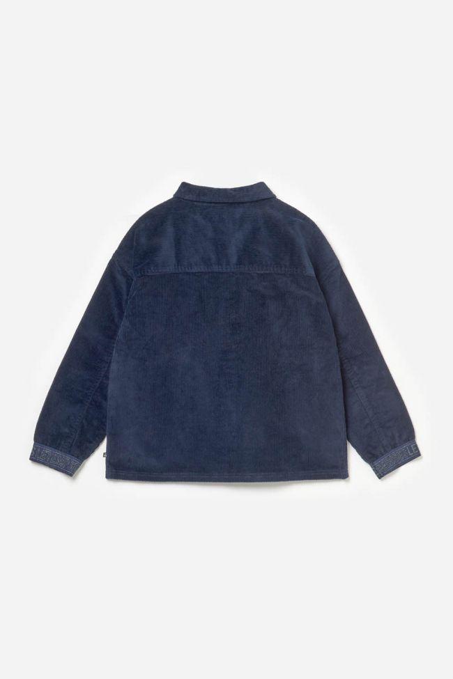Veste Suttergi en velours bleu marine