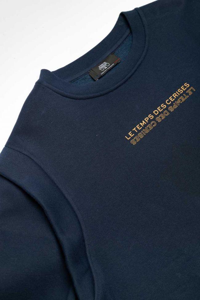 Sweat Valegi bleu marine imprimé