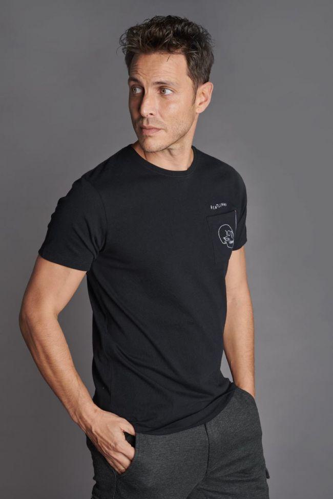 Embroidered black Bouna t-shirt