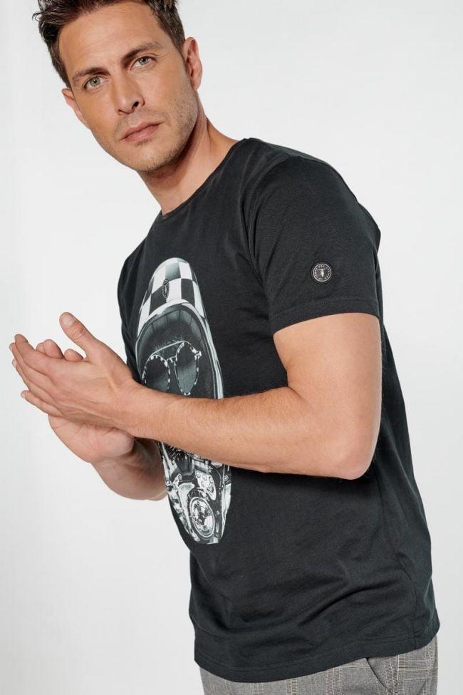 T-shirt Coman noir imprimé