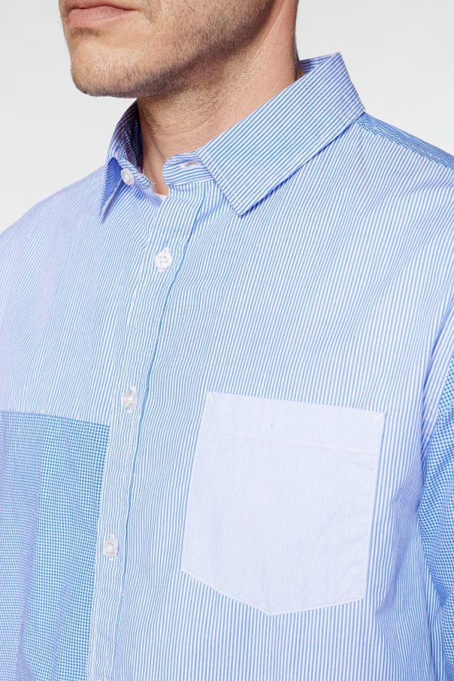 Chemise Diaz à rayures bleues
