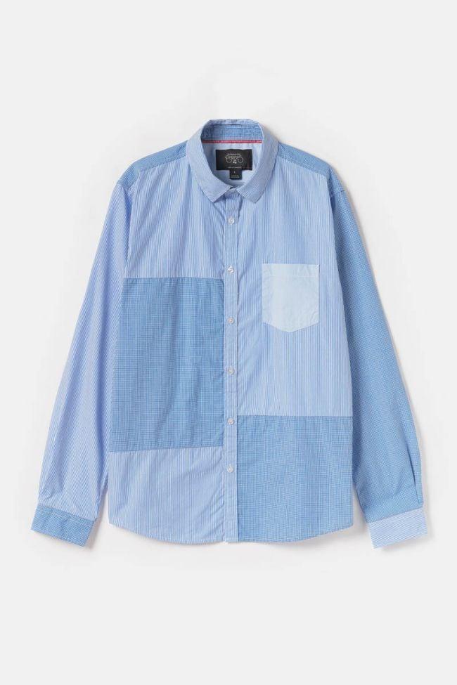 Blue stripy Diaz shirt