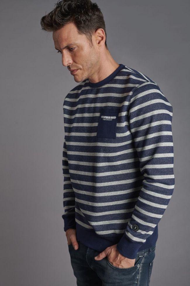 Blue and white stripy Lunal sweatshirt
