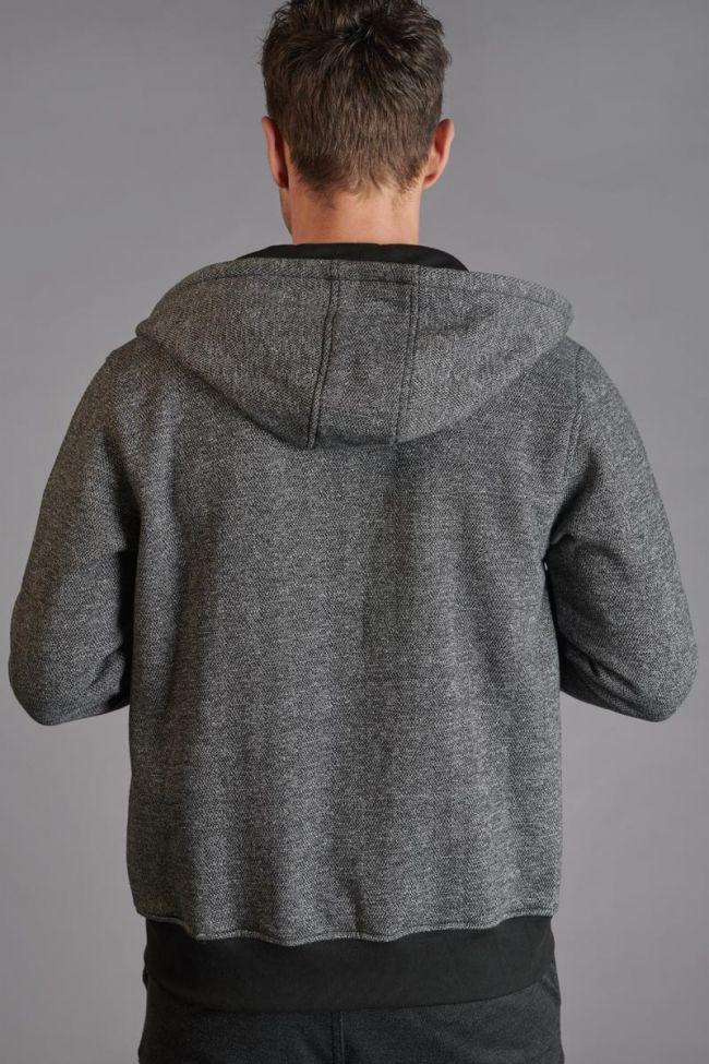 Veste bi-matière Mestre noire et grise