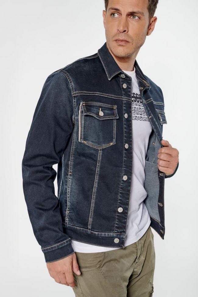 Veste en jeans bleu foncé Milo