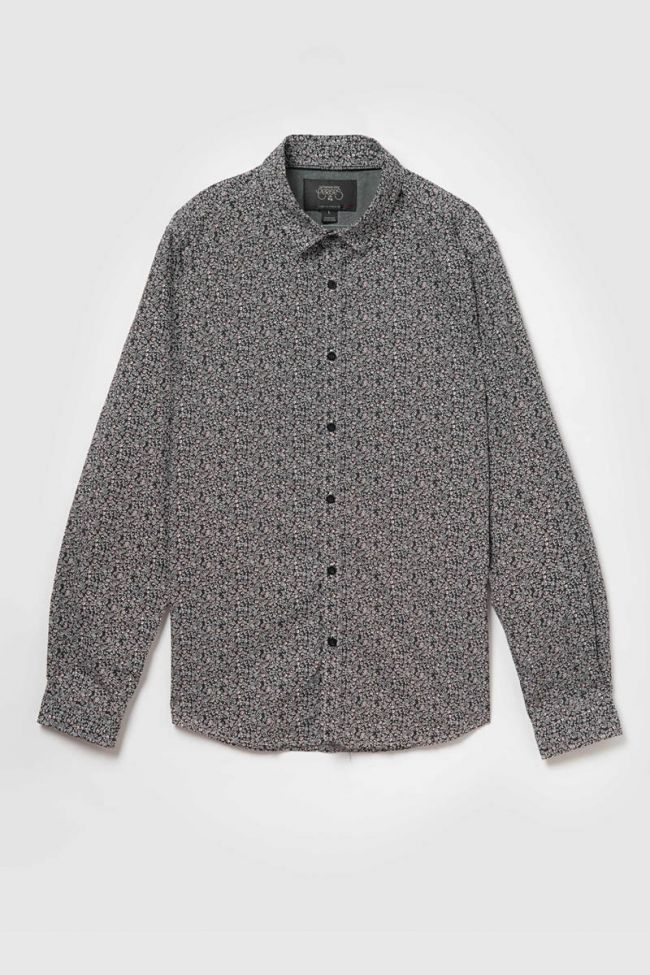 Black floral Navel shirt