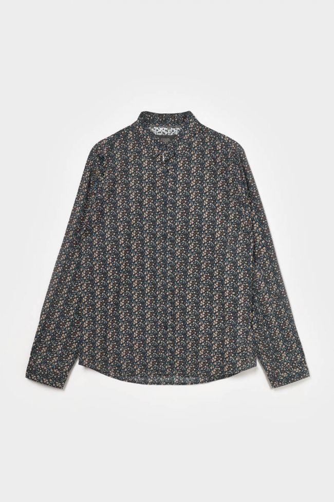 Black floral Selba shirt