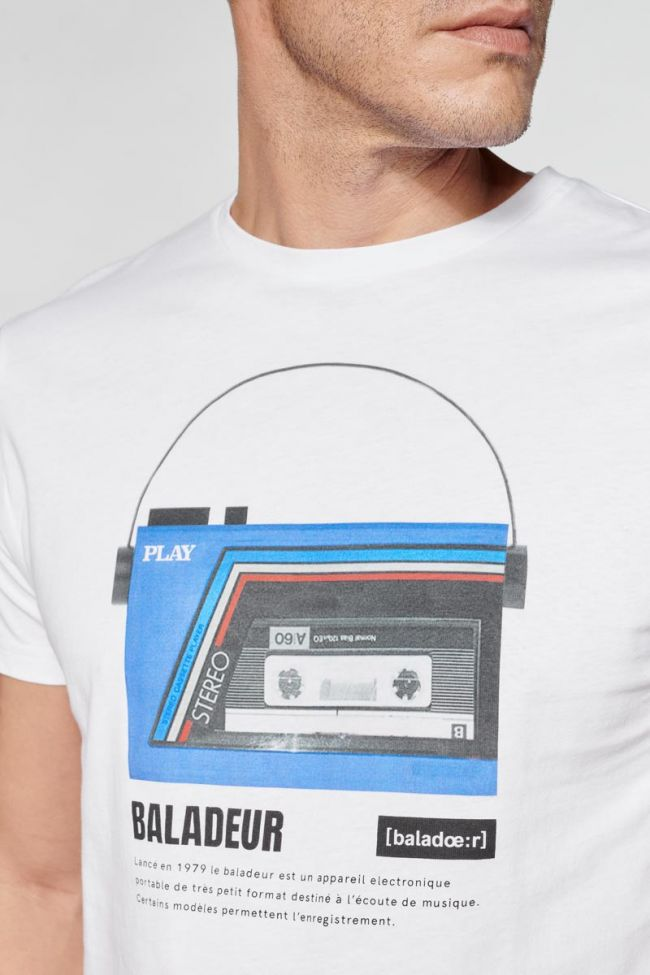 Printed white Trent t-shirt