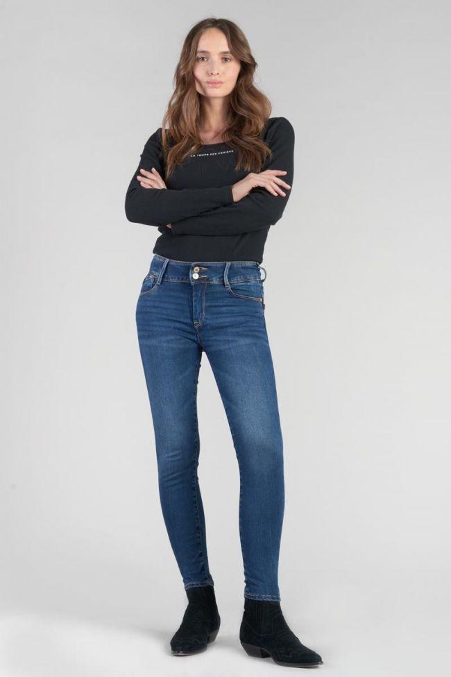 Asti ultra pulp slim taille haute 7/8ème jeans bleu N°2