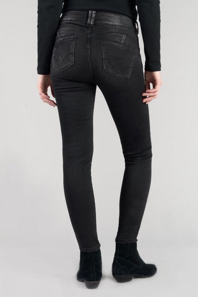 Bari ultra pulp slim high waist 7/8th jeans black N°1