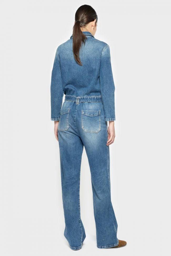 Combinaison pantalon Easy en jeans bleu