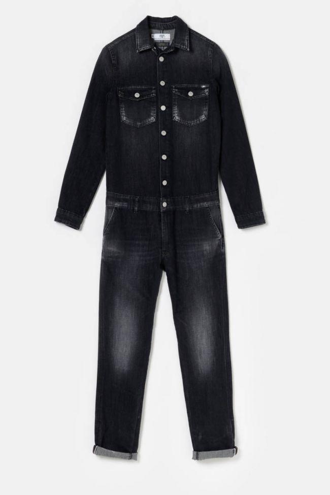 Black denim Sena jumpsuit