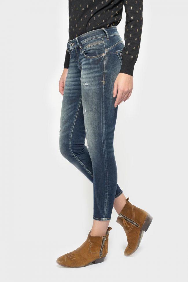 Sib pulp slim 7/8ème jeans destroy vintage bleu N°2