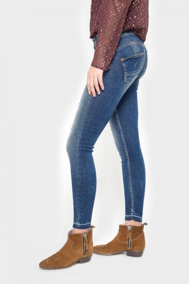 Talara pulp slim 7/8ème jeans destroy vintage bleu N°2