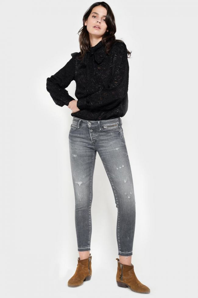 Vibe power skinny 7/8th jeans destroy grey N°2