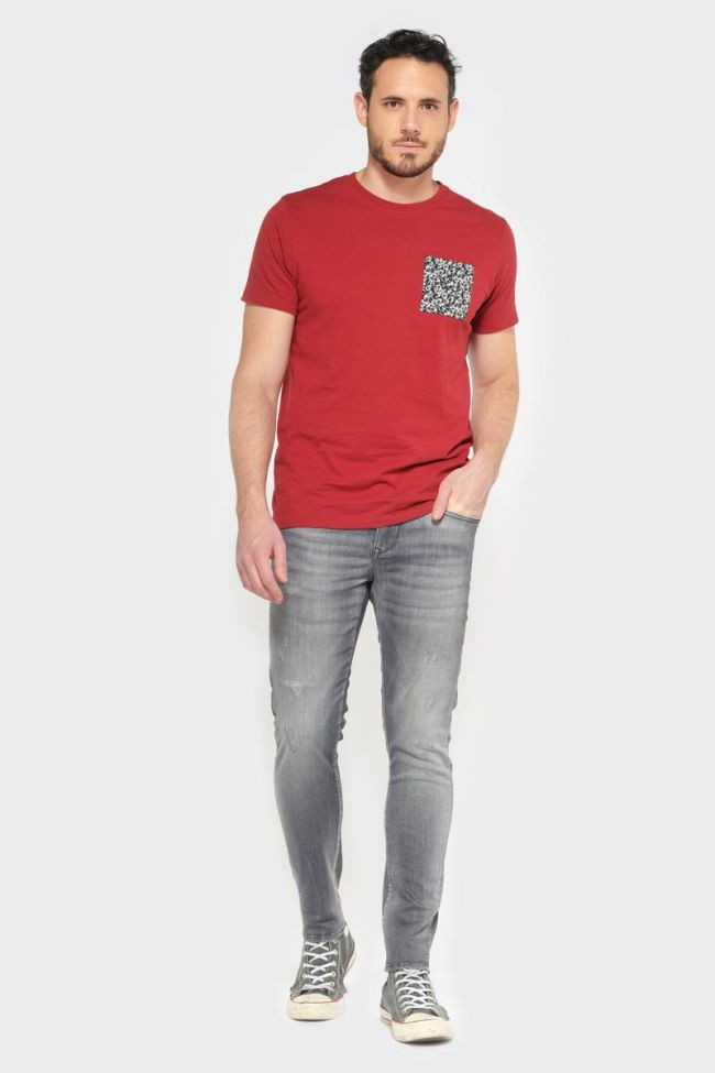 Power skinny 7/8ème jeans destroy gris N°2