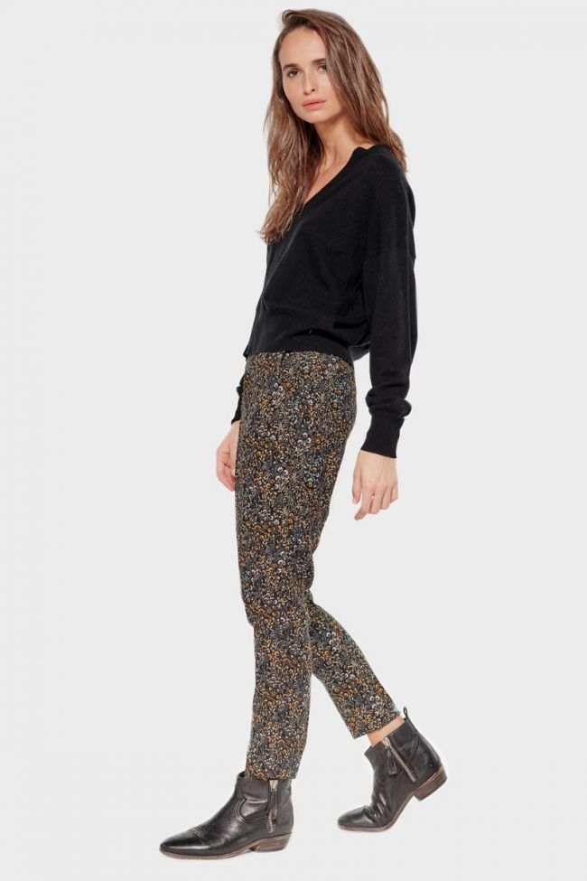 Pantalon Dorine à motif fleuri