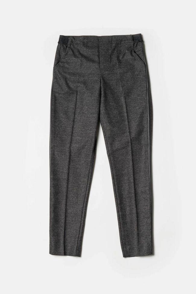 Pantalon Guilia à carreaux gris