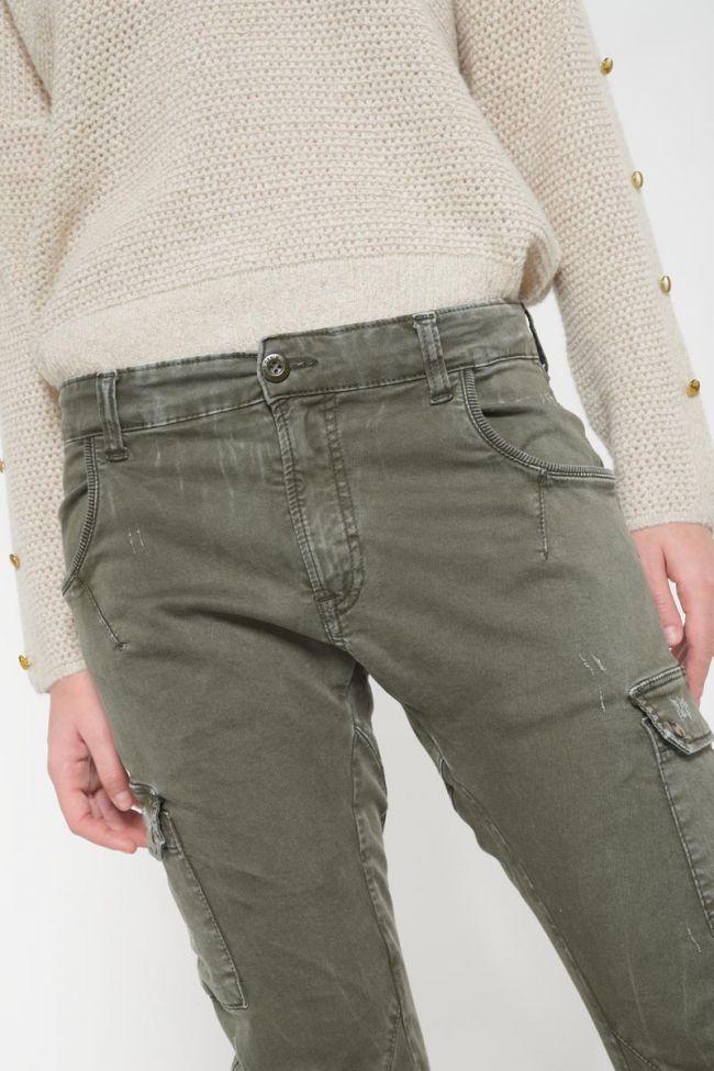 Khaki 7/8 Rivera cargo trousers