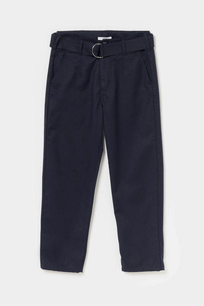 Glitter navy blue high-waisted Serena chinos