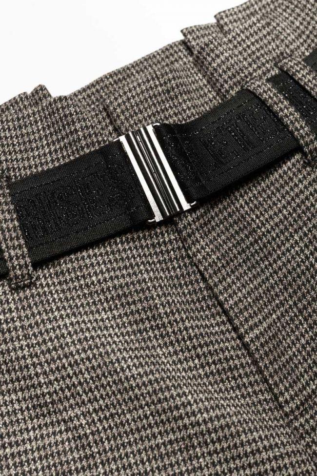 Pantalon Nagagi taille haute marron