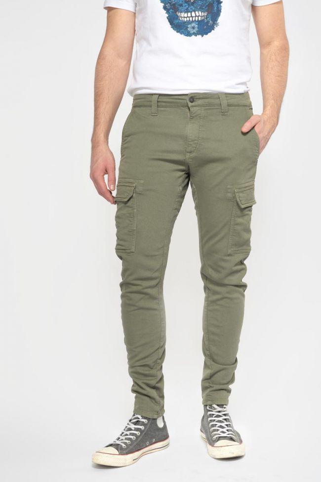 Pantalon Durbuy tapered arqué kaki
