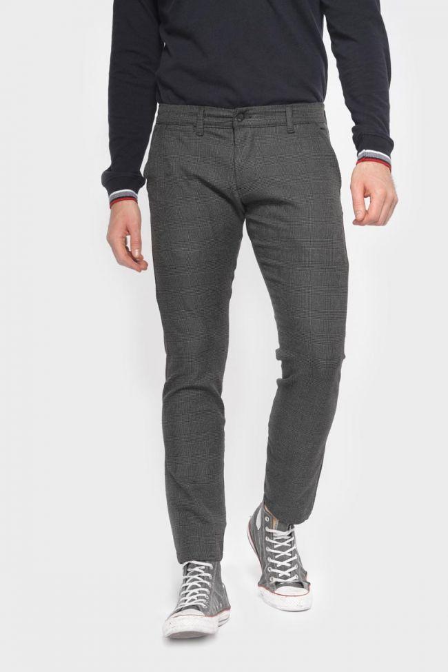 Pantalon Prato à carreaux gris