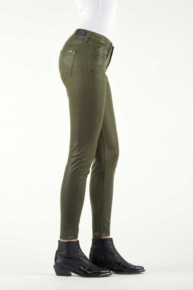 Jeans 300/16 Slim Leather Effect Khaki