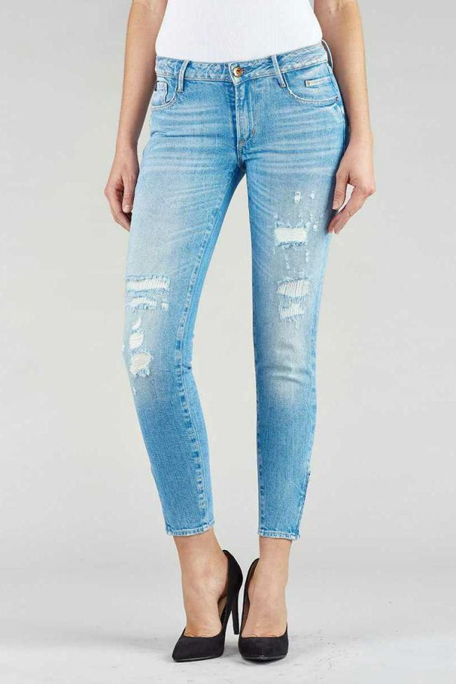 Jeans 300/16 slim court bleu clair