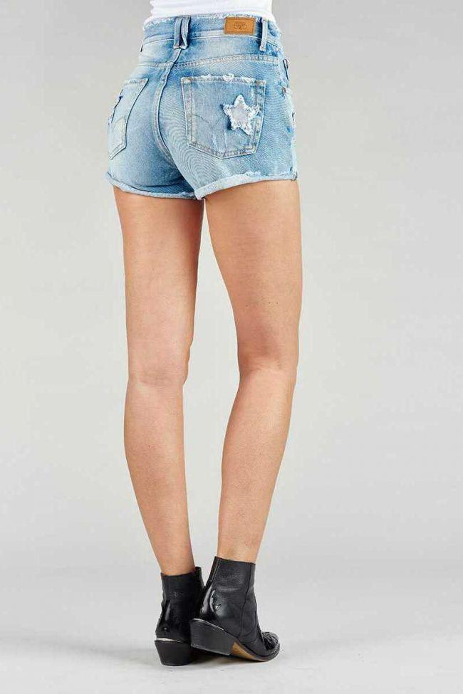 Blue denim Bastille shorts