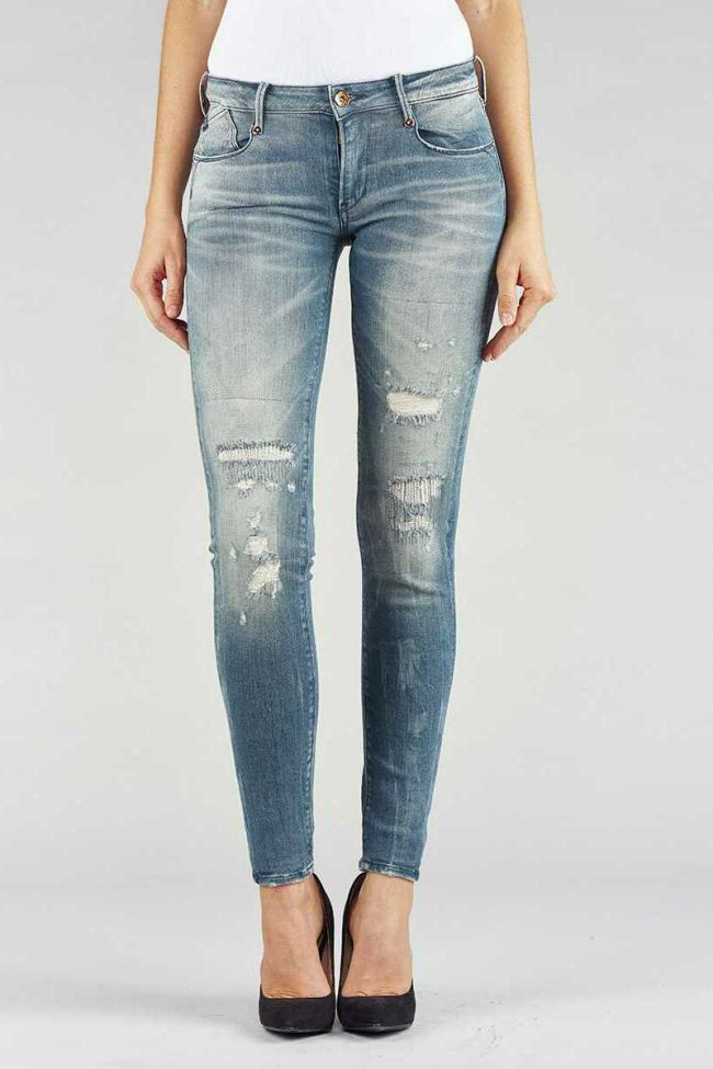 Jeans Power skinny bleu gris