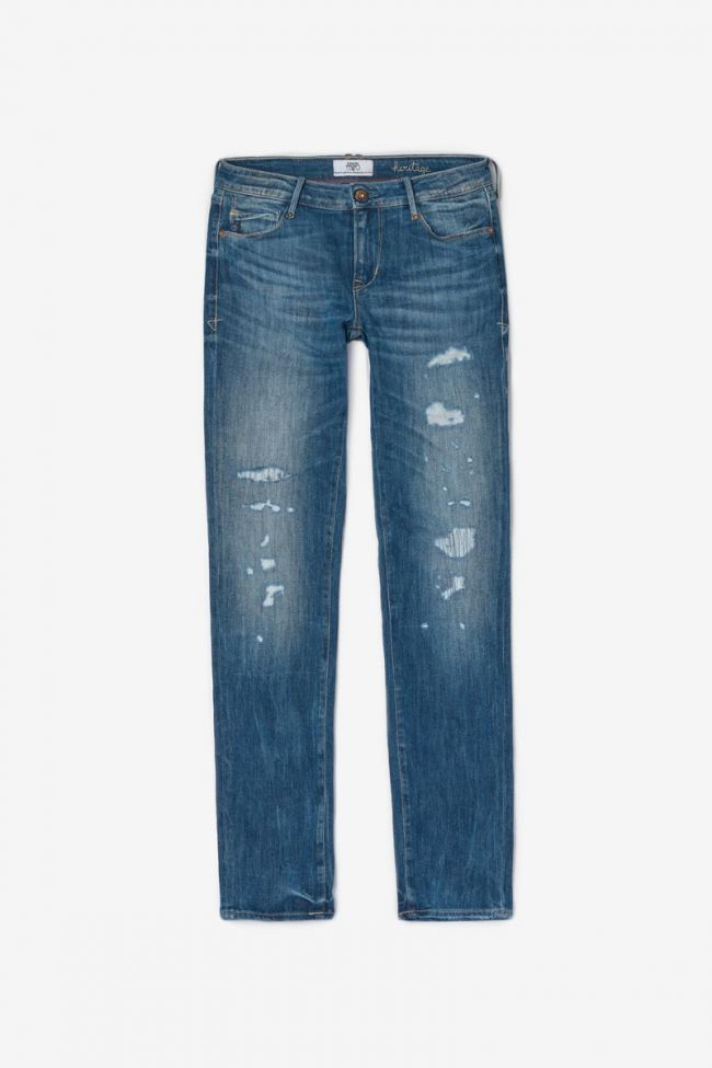 Jeans slim 300/16 7/8ème bleu