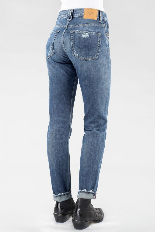 Jeans 400/16 Mom Bleu moyen