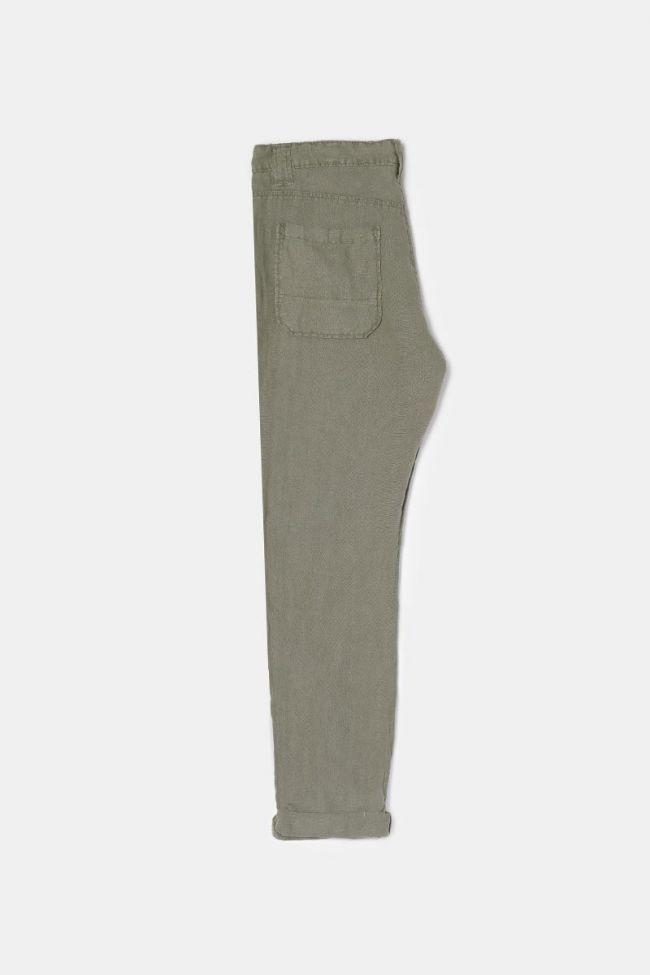 Pantalon Nesrone en lin kaki