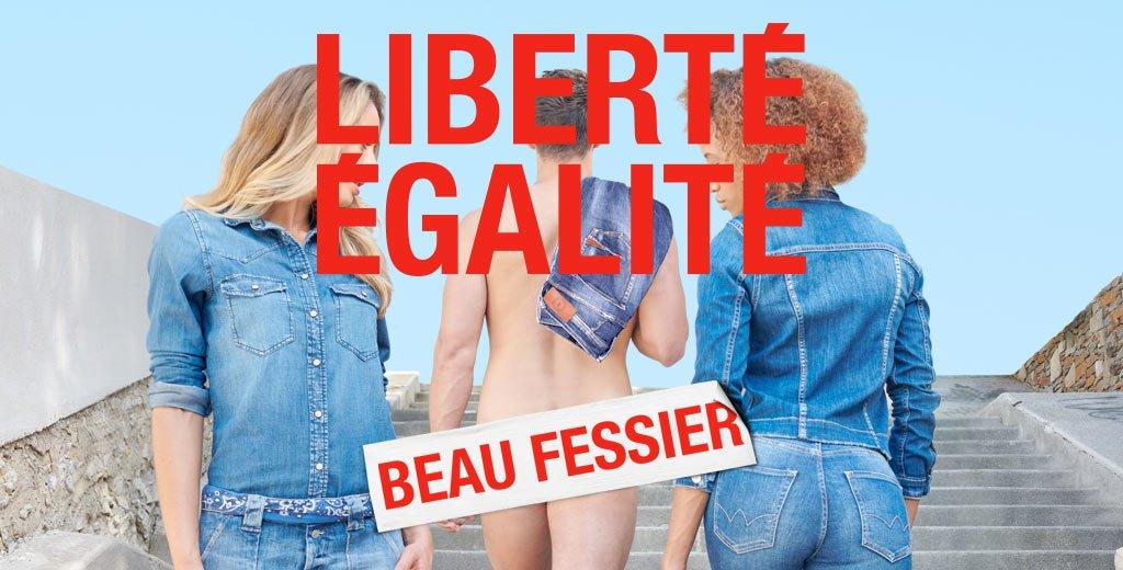 Liberté, égalité, beau fessier